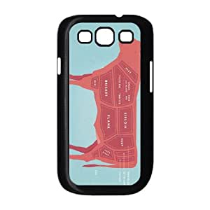 Samsung Galaxy S3 9300 Cell Phone Case Black Beef Cuts Poster LAJ7112006