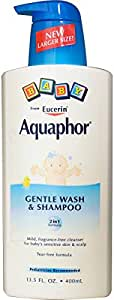 Aquaphor, Baby Gentle Wash & Shampoo, Fragrance Free, 13.5 fl oz (400 ml)