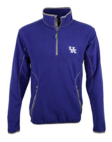 Antigua Fleece Micro Pullover - University of Kentucky Men's Ice Micro Polar Fleece 1/4 Zip Pullover (small)