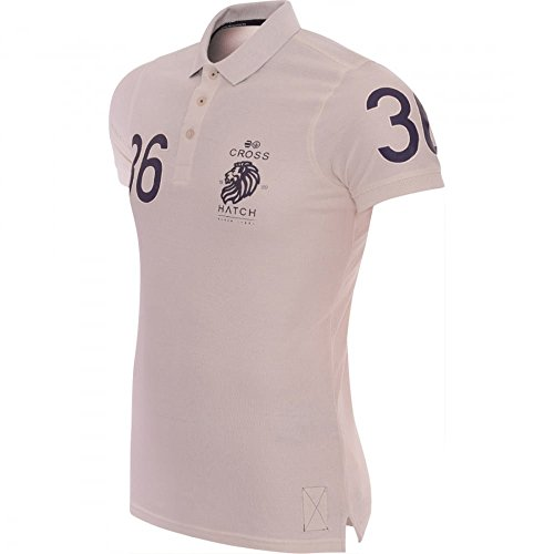 Crosshatch Herren Polo T Shirt Baumwolle colllared Pique Polo Tee Top kurzärmligen klein Dampfgrau