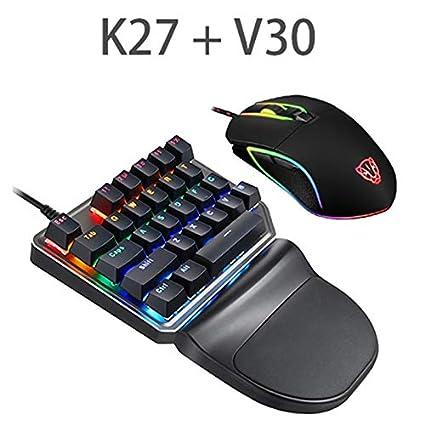 37e04958c92 Amazon.com: Leoie 2.4G Wired one-Handed Keyboard,27-Key Mini Gaming ...