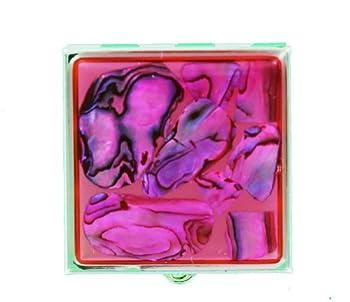 Pill Box - Abalone Square Pink