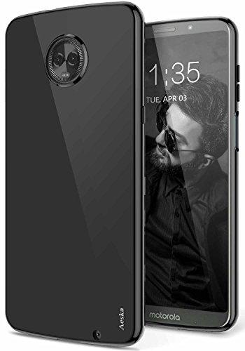 Moto Z3 Play Case, Moto Z3 Case, Aeska Ultra [Slim Thin] Flexible TPU Gel Rubber Soft Skin Silicone Protective Case Cover for Motorola Moto Z3 Play (Black)