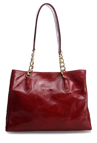 The Bridge Damen 04234701 Schultertaschen, 27x20x10 cm Red-gold