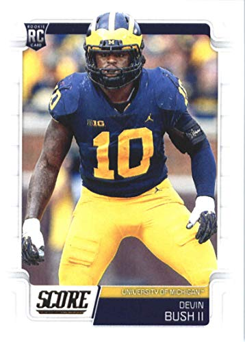 2019 Score Football #370 Devin Bush II Michigan Wolverines Rookie Official NFL Trading Card From Panini Steelers