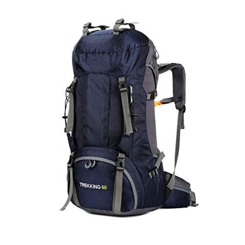 Purpume 60L Fishing Bag Backpack Mountaineering Internal Frame Water Resistant Blue