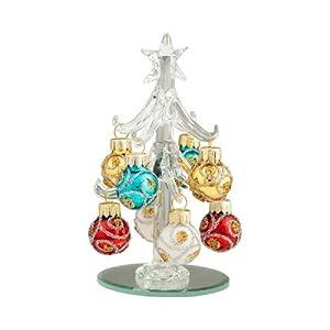 """Amazon.com: Mini Christal Glass 4"""" Christmas Trees with ..."""