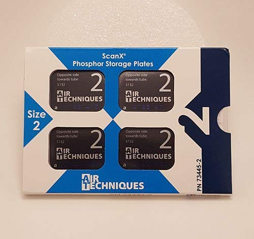 AIR TECHNIQUES ScanX Intraoral Phosphor Plates Size 2, 4/pk #73445-2 by ScanX