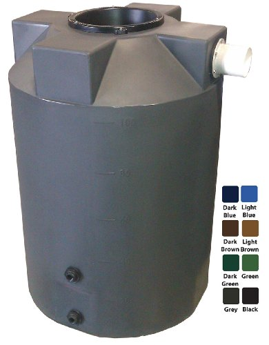 100 Gallon Rain Harvest Collection Tank, Dark Green (Cistern Water Tank)