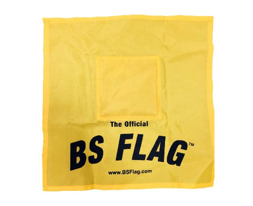The Original Censored BSFlag - Yellow BSFlag Fun at The Office and at Home and Use for Political Strike Message - Pack of 1 - Homes Message Flag
