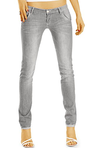j50k Bestyledberlin jean en taille jean pantalon femme basse fit Gris slim r4zcqIrWA