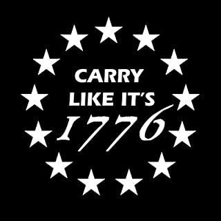 product image for Keen Carry Like It's 1776 2nd Amendment Vinyl Decal Sticker|Walls Cars Trucks Vans Laptops|White|5.5 in|KCD726