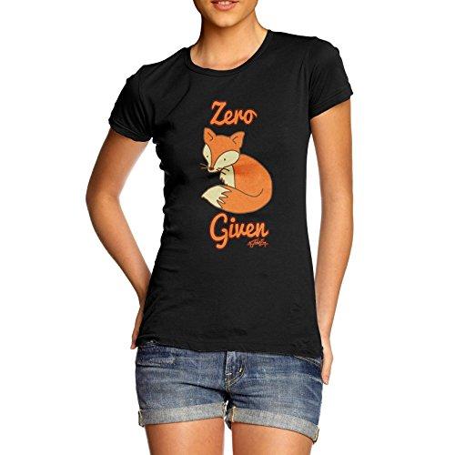 TWISTED ENVY Women's Zero Fox Given Black T-Shirt X-Large
