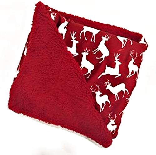 Christmas Holiday Plush Throw Blanket with Sherpa Fleece Reverse by Marlo Lorenz | 50