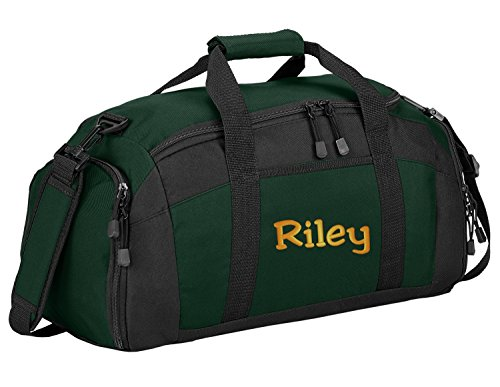 Sport Duffel Bag by All About Me Company | Personalized Monogram/Name Gym Bag (Hunter)