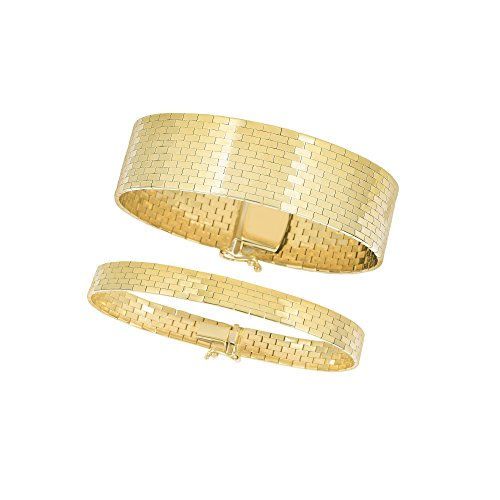 """14kt 7"""" Yellow Gold Shiny Rect"""
