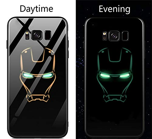 new style 572eb cab63 Fitted Cases - Avengers Marvel Batman Captain America Iron Man Luminous  Glass Case for Samsung Galaxy s8 s9 Plus Note 8 Black Panther Hard Case -  by ...