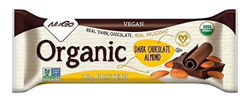 NuGO ORGANIC Dark Chocolate Almond Bars, 12-Pack