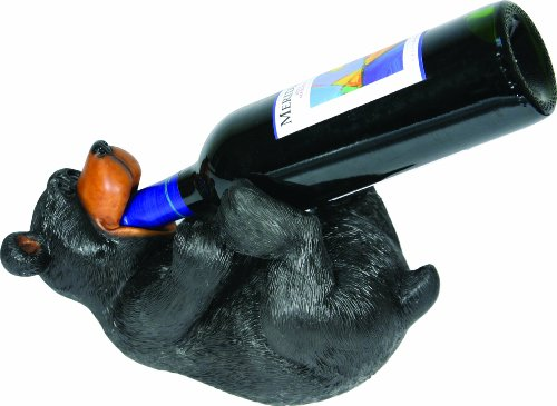 Rivers Edge Hand Painted Whimsical Bear Wine Bottle Holder