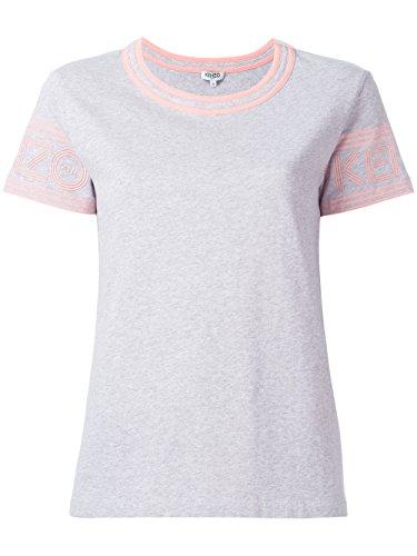 kenzo-womens-f752ts79398596-grey-pink-cotton-t-shirt