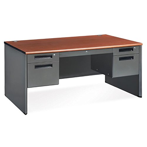 OFM Executive Series Double Pedestal Panel End Desk - Durable Locking Utility Desk, 29.50