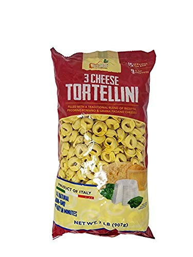 - Food with Purpose 3 Cheese Tortellini All Natural, 15 Servings, From Italy 2 LB