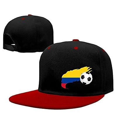 JOWWX-CAP& Soccer Ball with Colombia Flag Mens Womens Snapback Baseball Cap Adjustable Flat Bill Dad Hats