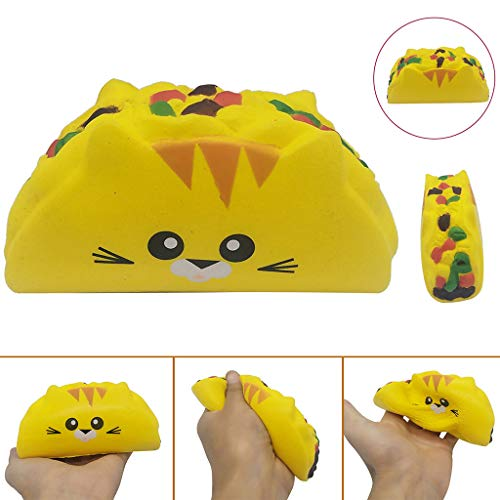 2019HoHo Anti Stress Anxiety Toys for Adults Kids Squeeze Squishy Stress Relief Toys Vent Toys Cute Cat Vegetable Roll]()