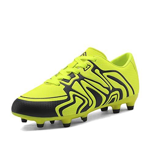 DREAM PAIRS Little Kid 160472-K Light Green Black White Soccer Football Cleats Shoes - 1 M US Little Kid
