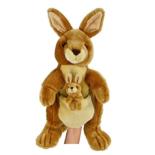 Korimco Kangaroo Full Body Hand Puppet W/Joey Soft Plush Toy 13
