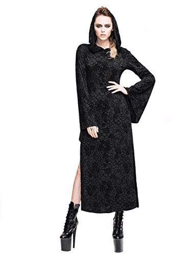 Straight Jacket Costume Ideas (Steampunk Sexy Hoodie Dress Gothic Punk Skirt Renaissance Costume Victorian Dress (XL))