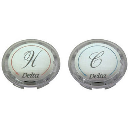 BrassCraft SHD0254 C Faucet Handle Buttons for Delta Faucet , Clear Acrylic, 2-Pack