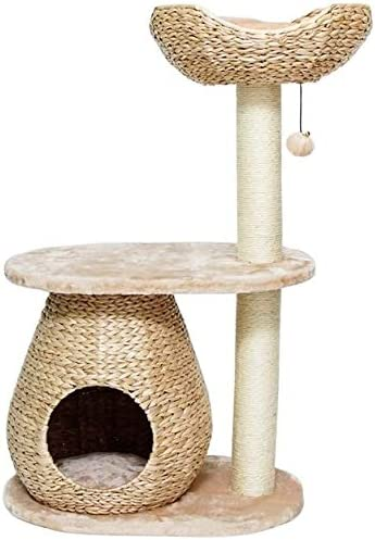 Llnn Cat Tree Modern Cat Tower For Indoor Cats Cat Tree Cat Tower Cat Furniture Cat Condo Cat House Hand Woven Cat Tree House With Soft Pad Sports Outdoors