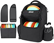 QOGIR Disc Golf Bag, Durable Disc Golf Backpack, Lightweight Frisbee Golf Bag with Two Sidewall Supports and D