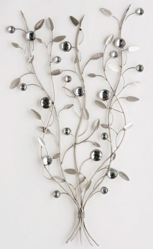 Wall Art - Metal Wall Art - Silver Jewel Tree Branch: Amazon.co.uk ...