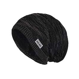 GG ST Winter Knitted Hat Men & Women Beanie Fleece Lining Skully Cap Warm Ski Slouchy Hats