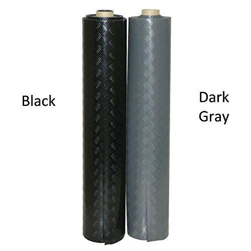 Rubber-Cal ''Diamond-Grip Resilient Flooring Mat - 2mm x 4ft x 15ft Rubber Flooring Rolls - Black by Rubber-Cal (Image #3)