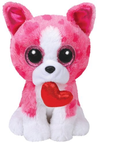 "TY Valentines ROMEO Pink Dog - 9"" Medium"
