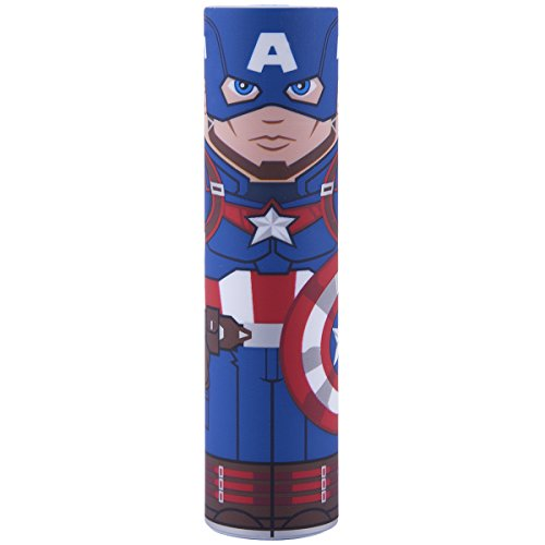 Captain America Marvel Avengers MimoPowerTube2 2600mAh USB Power Bank by Mimoco - Universal Charger for Smartphones (iPhone/Android), Watches, Bluetooth Speakers, Headphones, e-Readers, 5V Devices