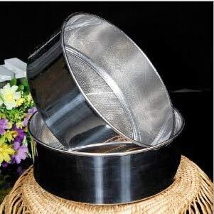 NASHINAL 60 mesh ultra-fine stainless steel flour sieve 304 powder sieve 15cm rice sieve kitchen tools baking tools