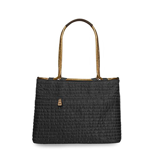 Eric Javits Luxury Fashion Designer Women's Handbag - Aline - Black (Snake Water Handbag)