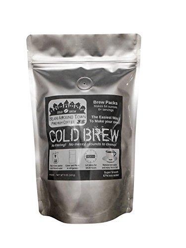 Bean Around Town Organic Cold Brew Coffee - Brew Packs. Triple Nickel 555 Blend