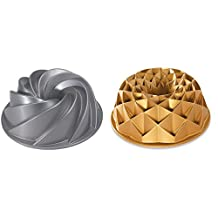 Set of 2 Nordic Ware Cake Jubilee and Heritage Bundt Pans