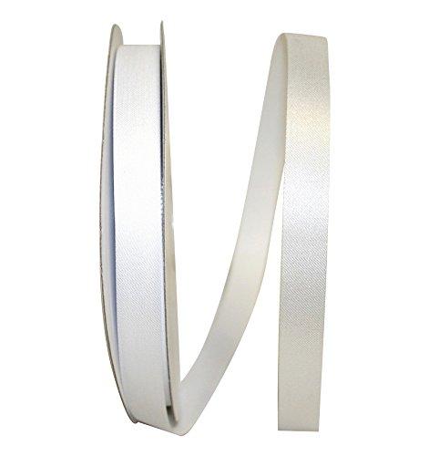Reliant Ribbon Aqua Satin Ribbon, 5/8 Inch X 100 Yards, White