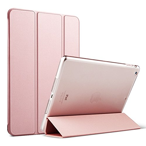 iPad mini Case, iPad mini 2 Cover, Supstar Slim-Fit Folio with Auto Wake/Sleep Smart Stand Magnetic PU Leather Hard Case for Apple iPad mini 1/2/3 - Rose Gold