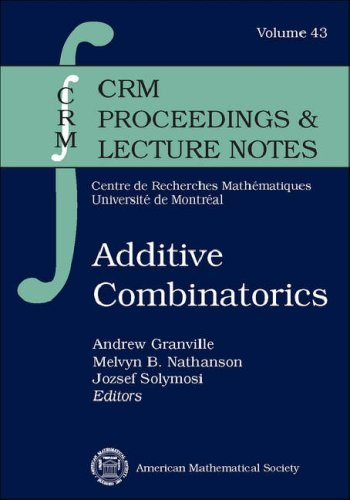 Additive Combinatorics (Crm Proceedings and Lecture Notes)