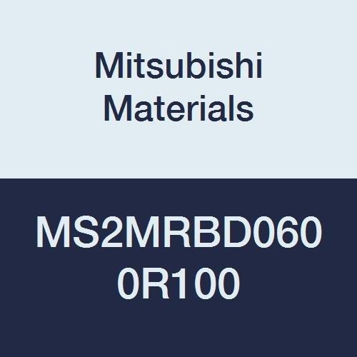 6 mm Cutting Dia 1 mm Corner Radius 2 Flutes Mitsubishi Materials MS2MRBD0600R100 Series MS2MRB Carbide Mstar Corner Radius End Mill Medium Flute