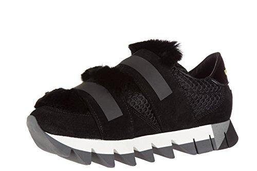 noir en cuir baskets sneakers Noir Dolce capri amp;Gabbana femme chaussures v8qXRwf