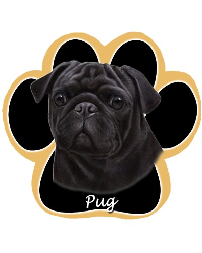 Black Pug  Non Slip Paw Shaped Mouse -