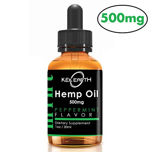 Hemp Oil 500mg - 1oz Large Bottle for Pain Relief - Stress Support, Anti Anxiety, Sleep Aide - MCT Fatty Acids and Omega 3, Omega 6, Omega 9